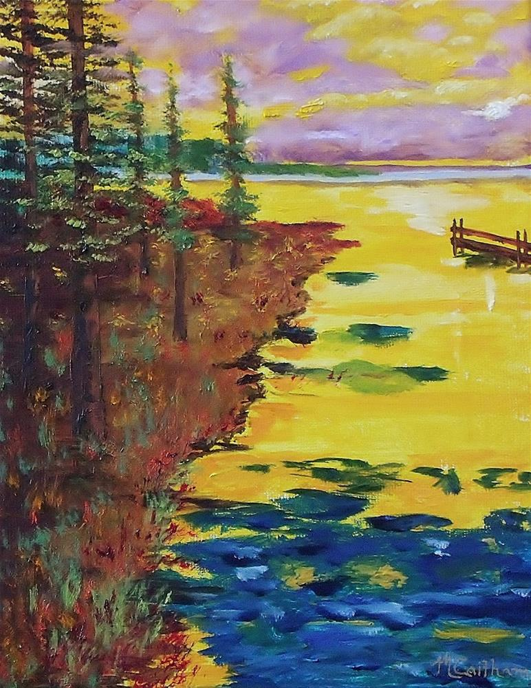 """Yellow Sunset"" original fine art by Mike Caitham"