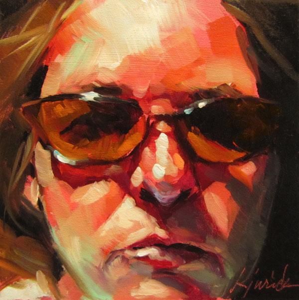 """""""Cheap Sunglasses"""" original fine art by Karin Jurick"""