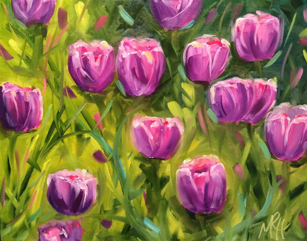 """Sunbathing Beauties"" original fine art by Molly Rohrscheib Hathaway"