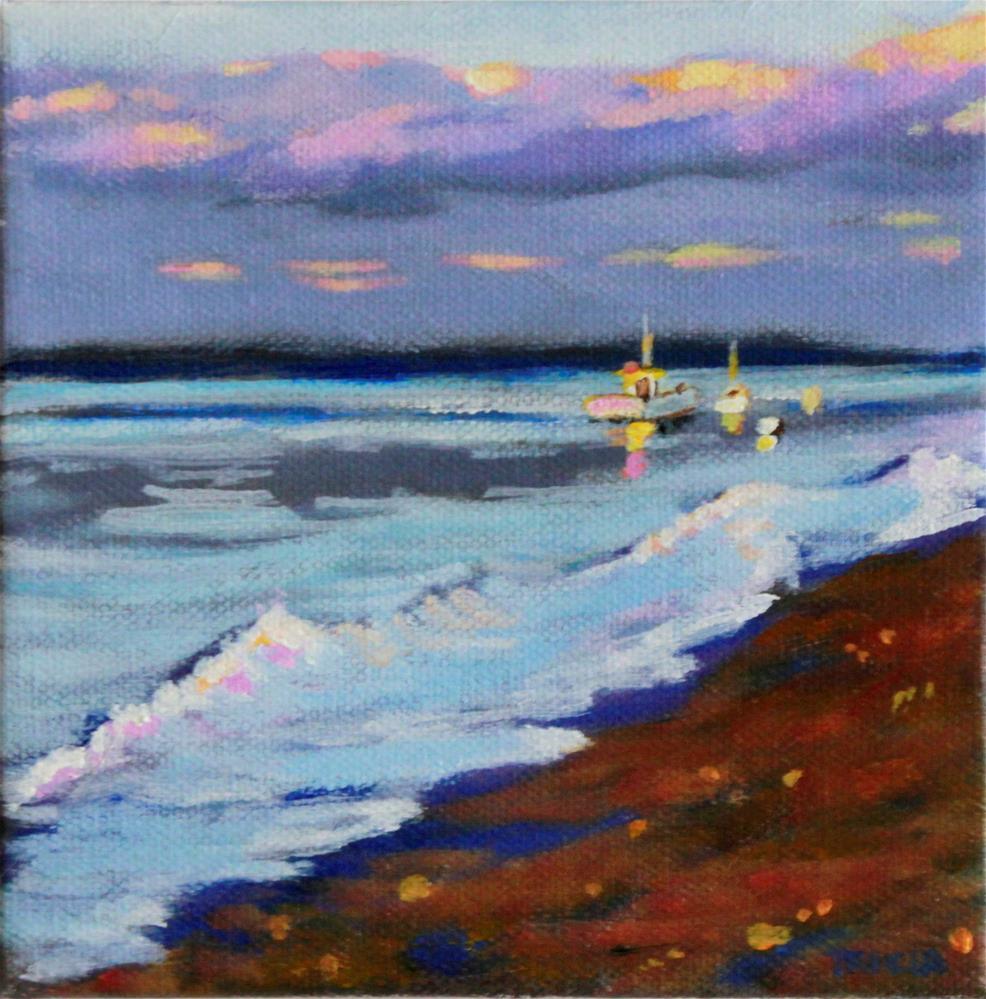 """Island Sunset"" original fine art by Tricia Granzier"