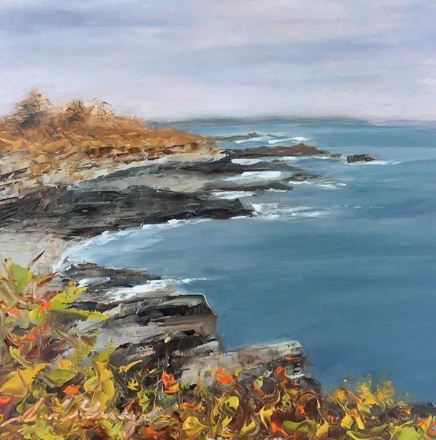 """""""#171 -November Color - Cape Elizabeth, ME"""" original fine art by Sara Gray"""