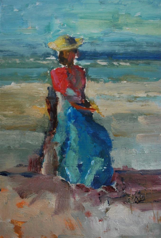 """""""Waiting Game"""" original fine art by Deborah Harold"""