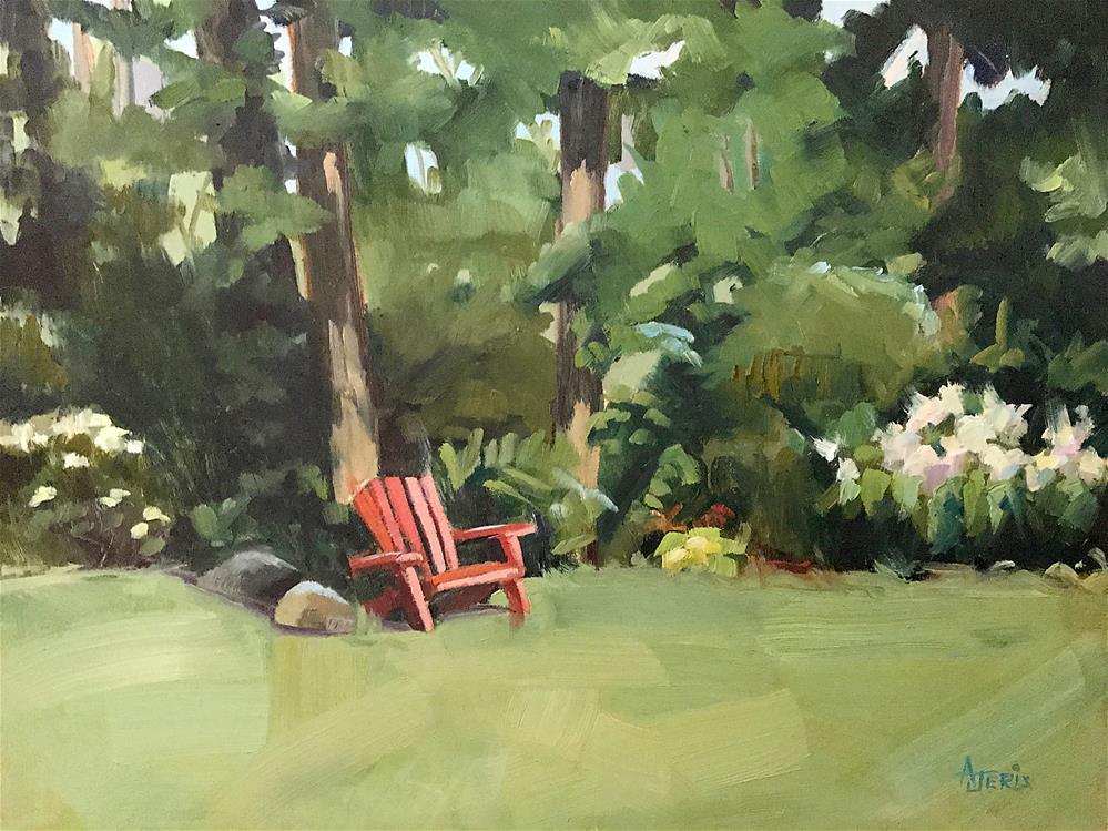 """Backyard"" original fine art by Andrea Jeris"
