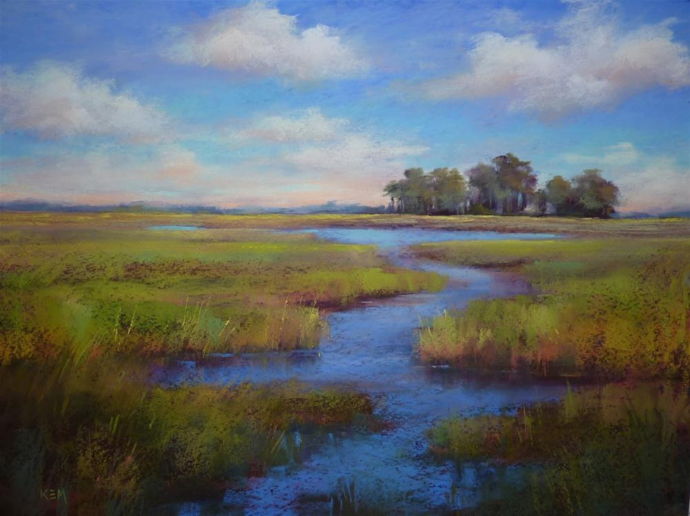 """Painting the Big View...A Trip to the Lowcountry"" original fine art by Karen Margulis"