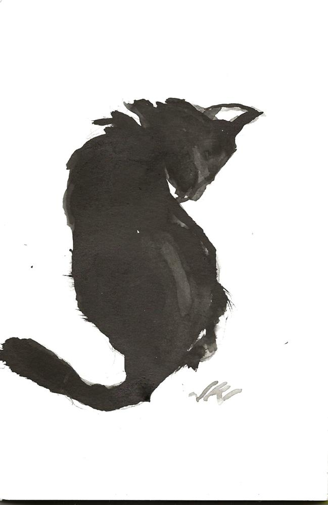 """Daily Cat 91"" original fine art by Jean Krueger"