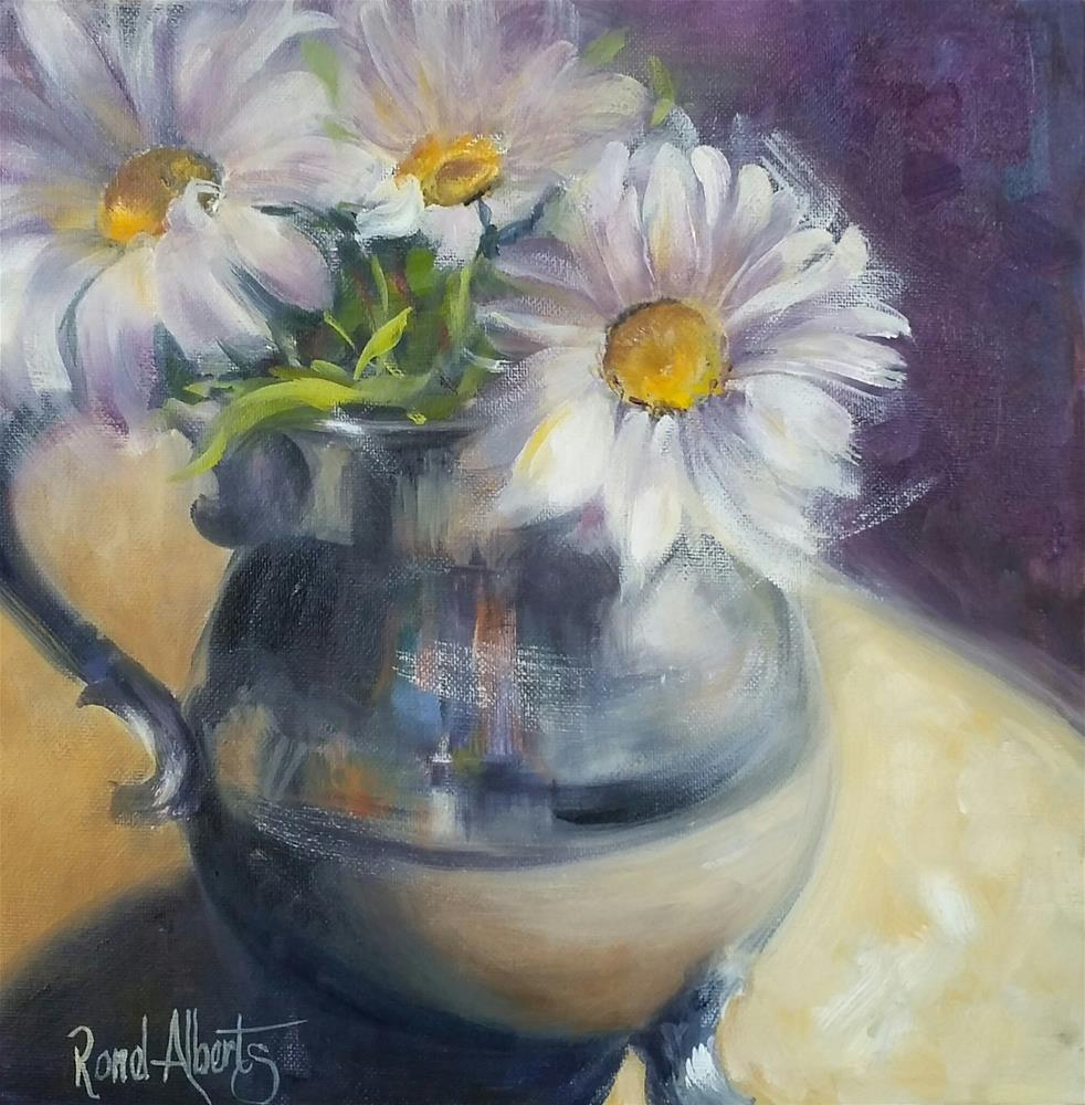 """Oopse daisies"" original fine art by Ronel Alberts"