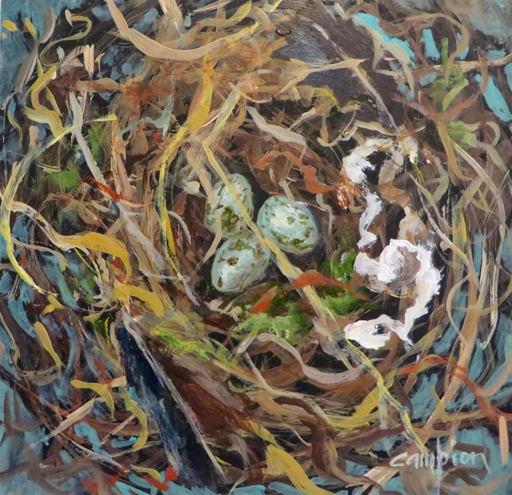 """608 Certain Teed"" original fine art by Diane Campion"