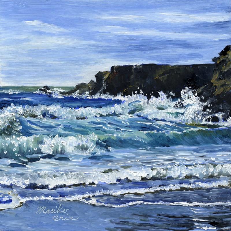 """""""Cheerful Splashes"""" original fine art by Mariko Irie"""