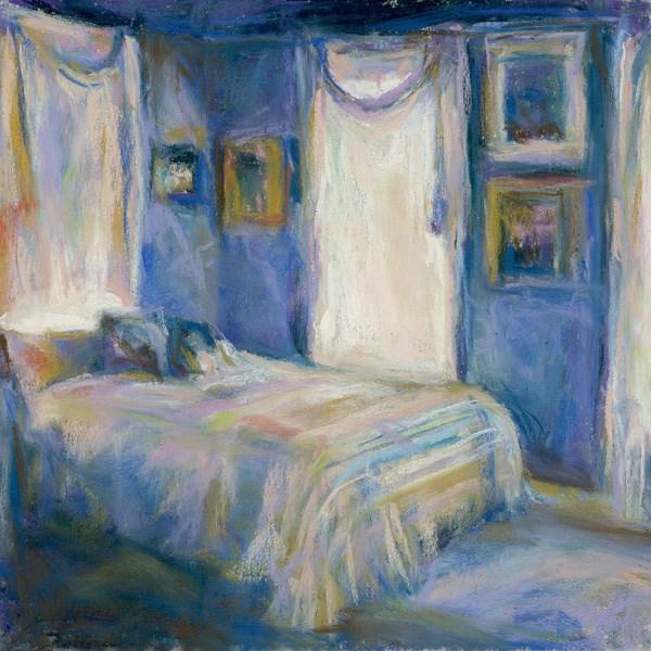 """A BLUE NIGHT - 6 x 6 pastel by Susan Roden"" original fine art by Susan Roden"