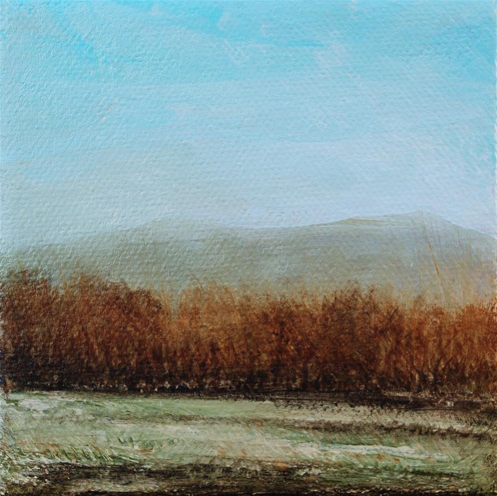 """Fall Field"" original fine art by Eva Art"