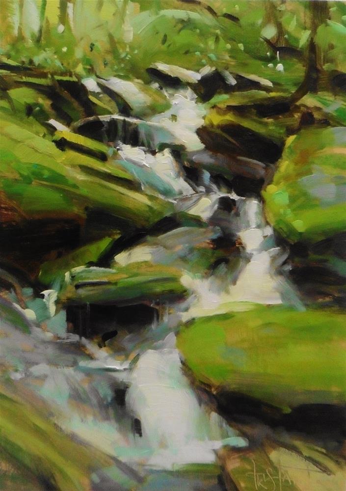 """Waterfalls"" original fine art by Víctor Tristante"