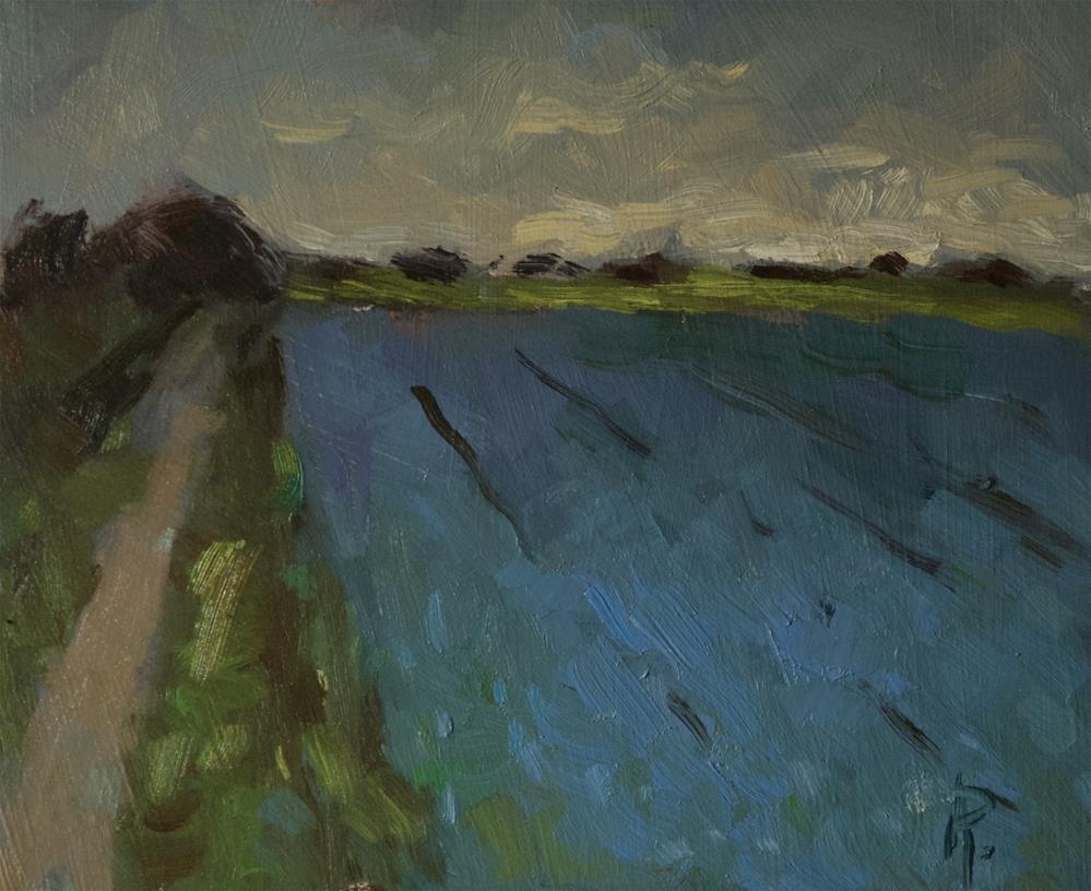 """""""'Blue Field'"""" original fine art by Andre Pallat"""