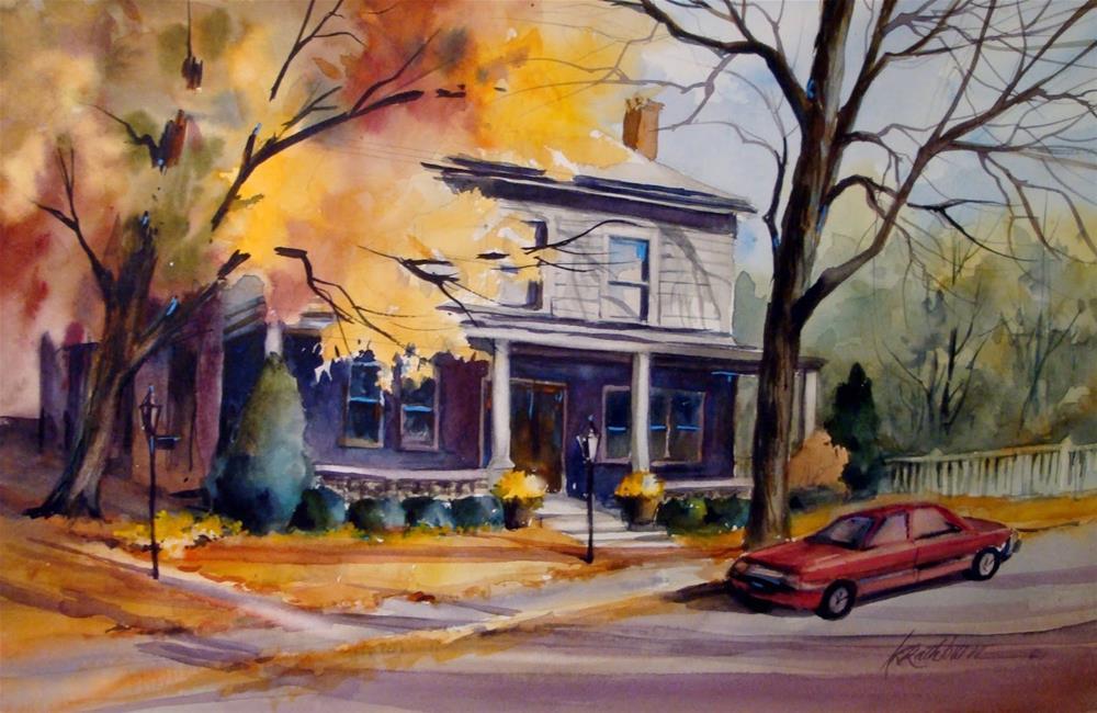 """An Autumn's Afternoon"" original fine art by Kathy Los-Rathburn"