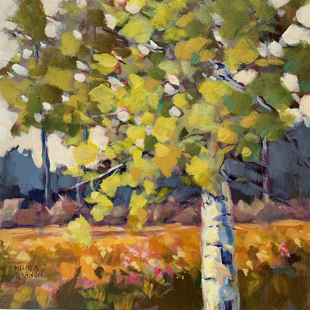 """Summer Trees"" original fine art by Melissa Gannon"