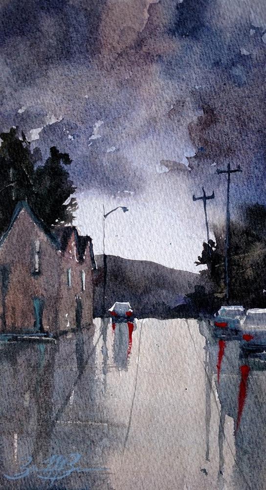 """""""Summer Storm"""" original fine art by Brienne M Brown"""