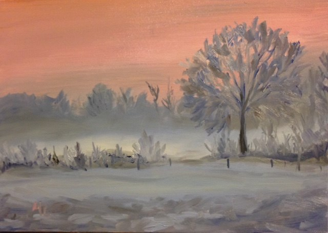 """Solitary Season"" original fine art by Marjie Laizure"