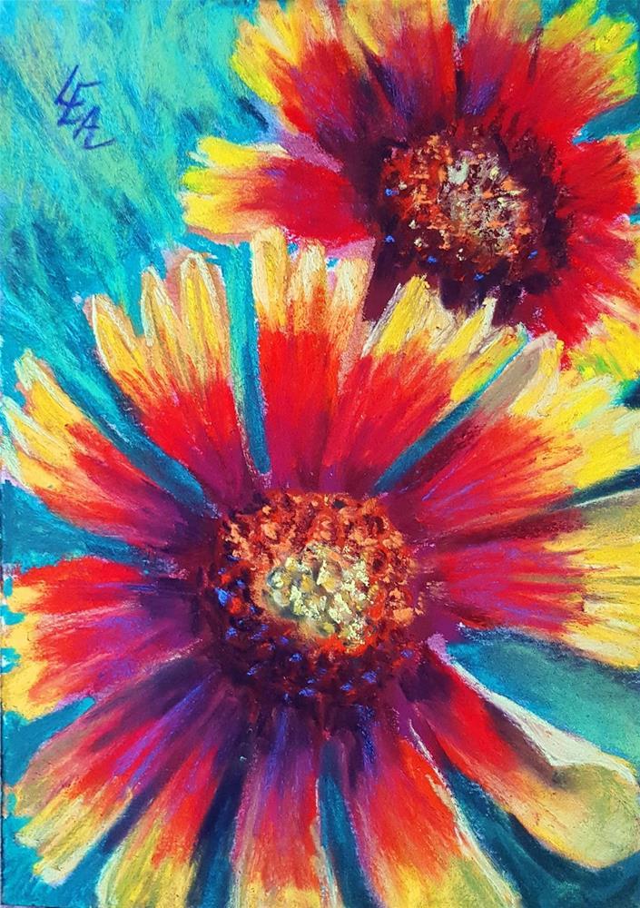 """Fireworks"" original fine art by Anna Lisa Leal"