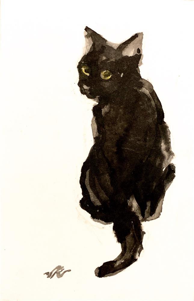 """Daily Cat 63"" original fine art by Jean Krueger"