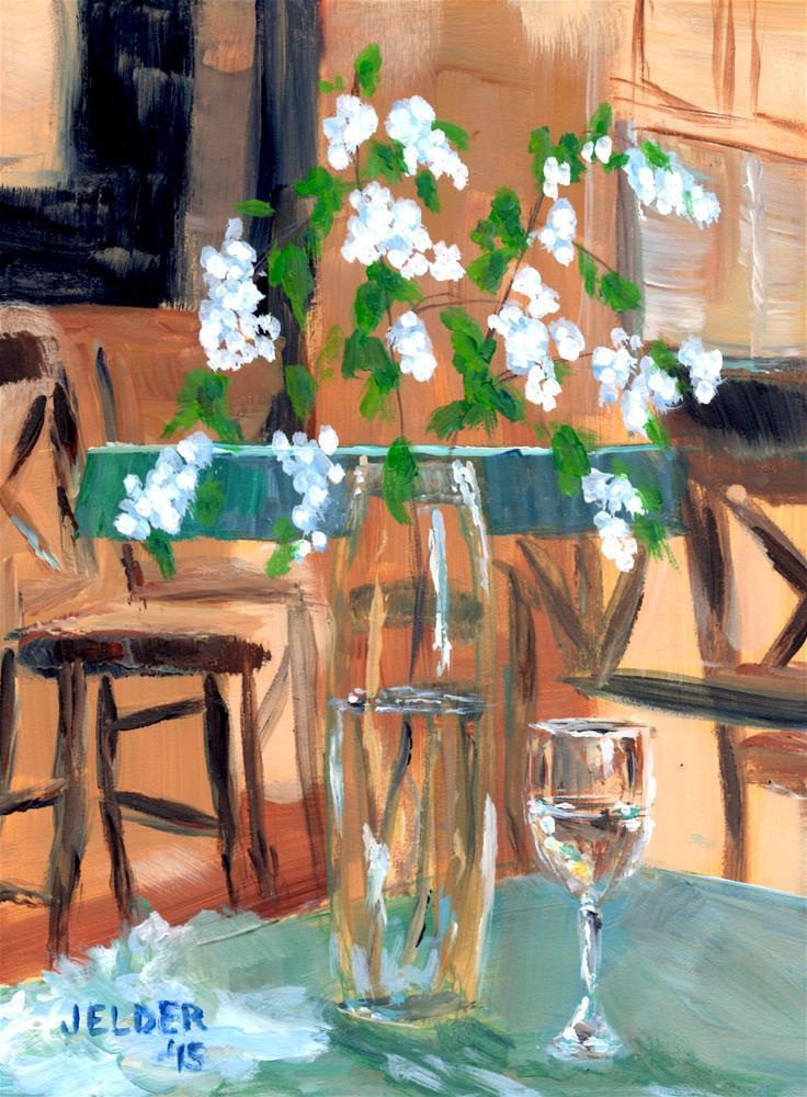 """""""Snowberries and Wine"""" original fine art by Judith Elder"""