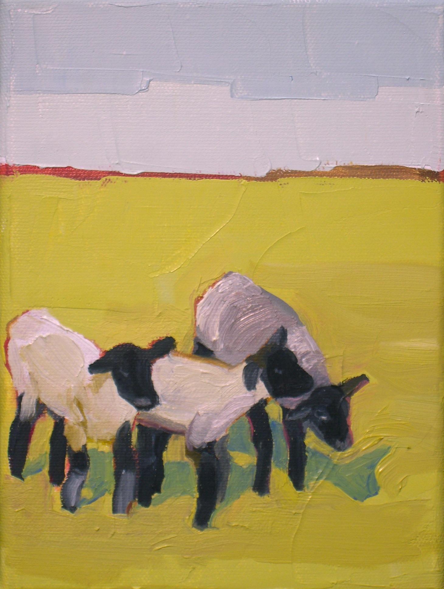 """""""Three Little Lambs"""" original fine art by Donna Walker"""