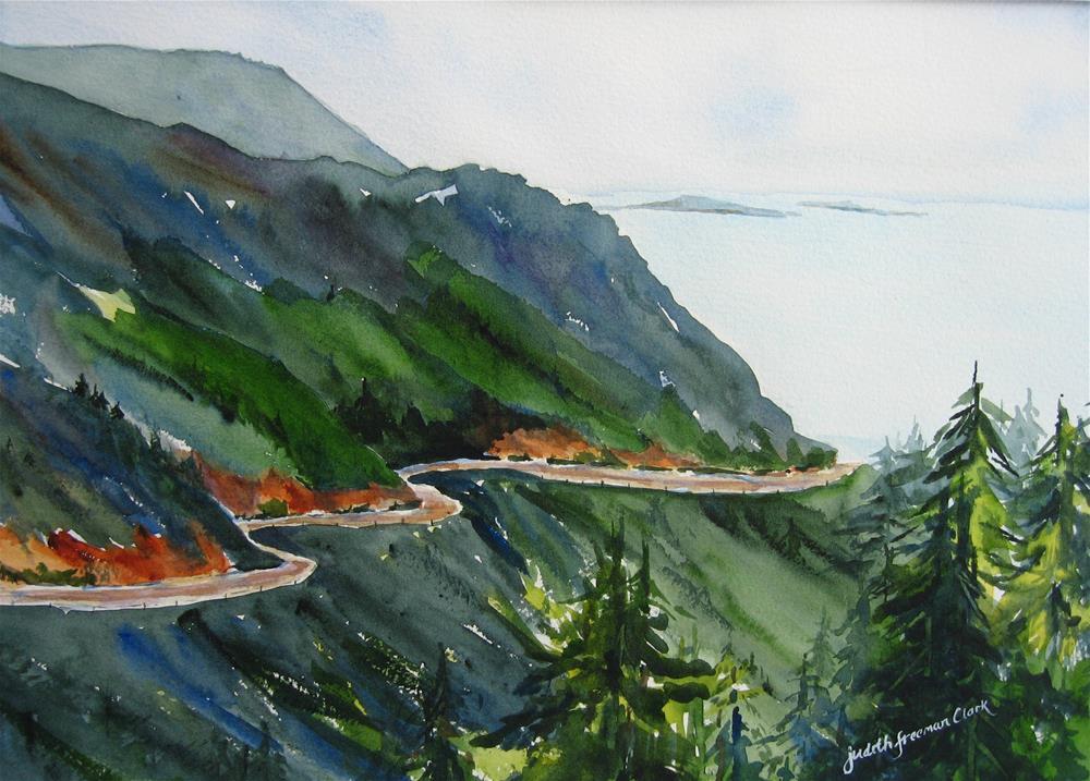 """Cabot Trail, Cape Breton Highlands National Park"" original fine art by Judith Freeman Clark"