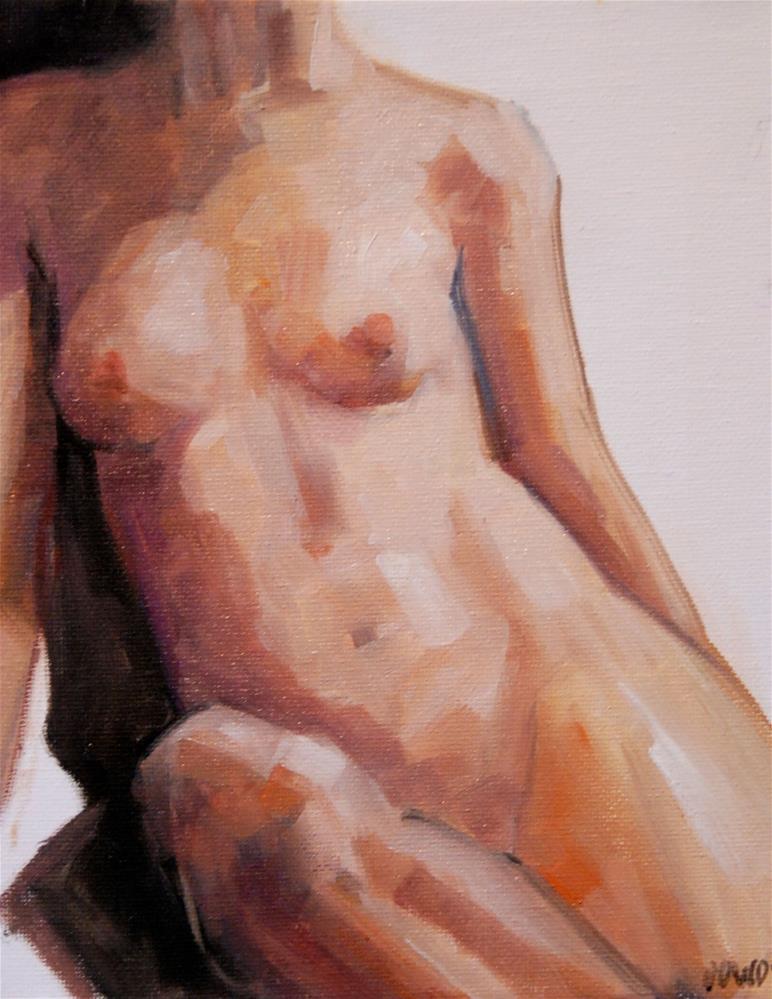 """Seated Nude"" original fine art by Christina Dowdy"