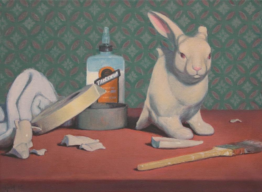 """Broken Bunny"" original fine art by Ski Holm"