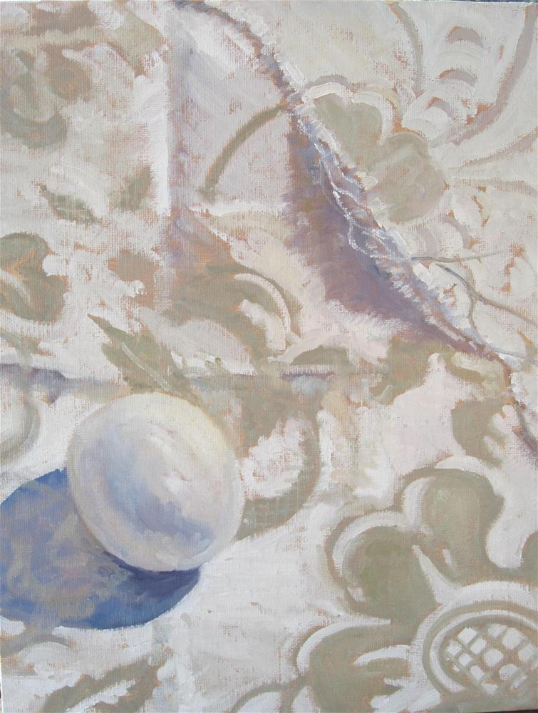 """""""the Egg and the Linen"""" original fine art by Leigh Alexandra Sparks"""