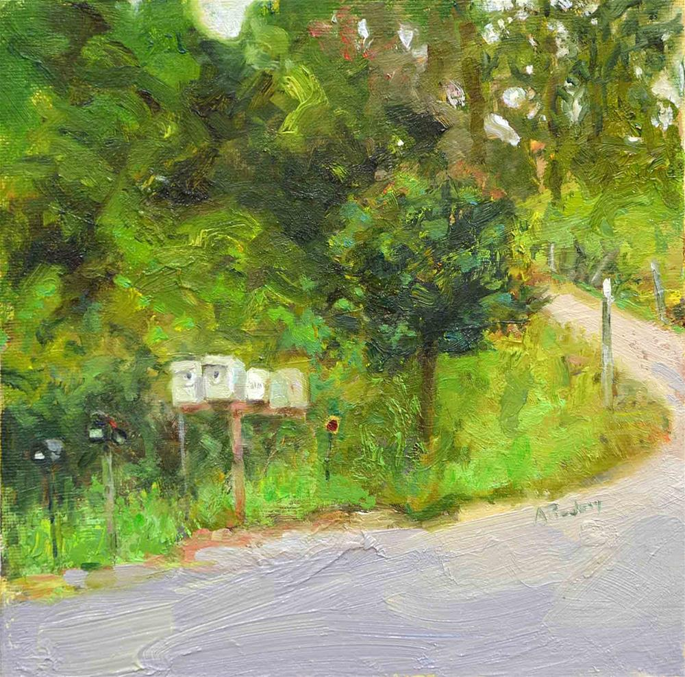 """""""Mailboxes Behind Benbow"""" original fine art by alicia tredway"""