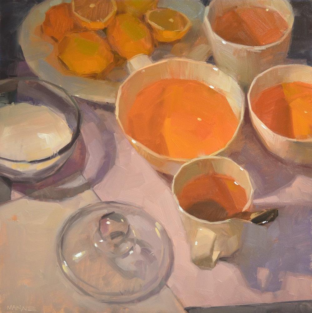 """Preparing Tea"" original fine art by Carol Marine"