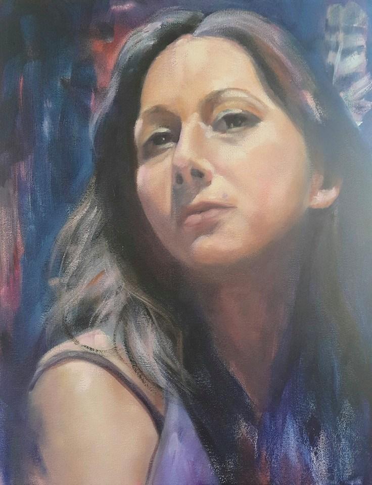 """Shannon"" original fine art by Rentia Coetzee"