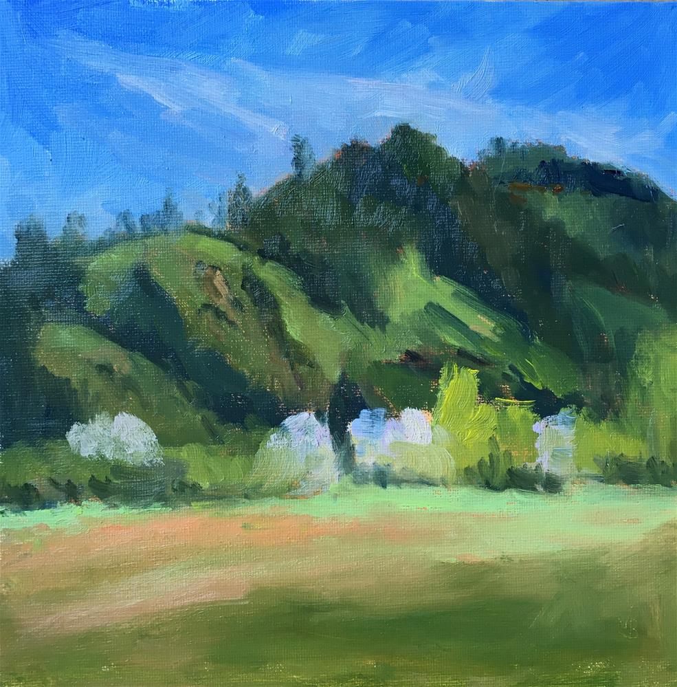 """Green Hillside"" original fine art by Victoria  Biedron"