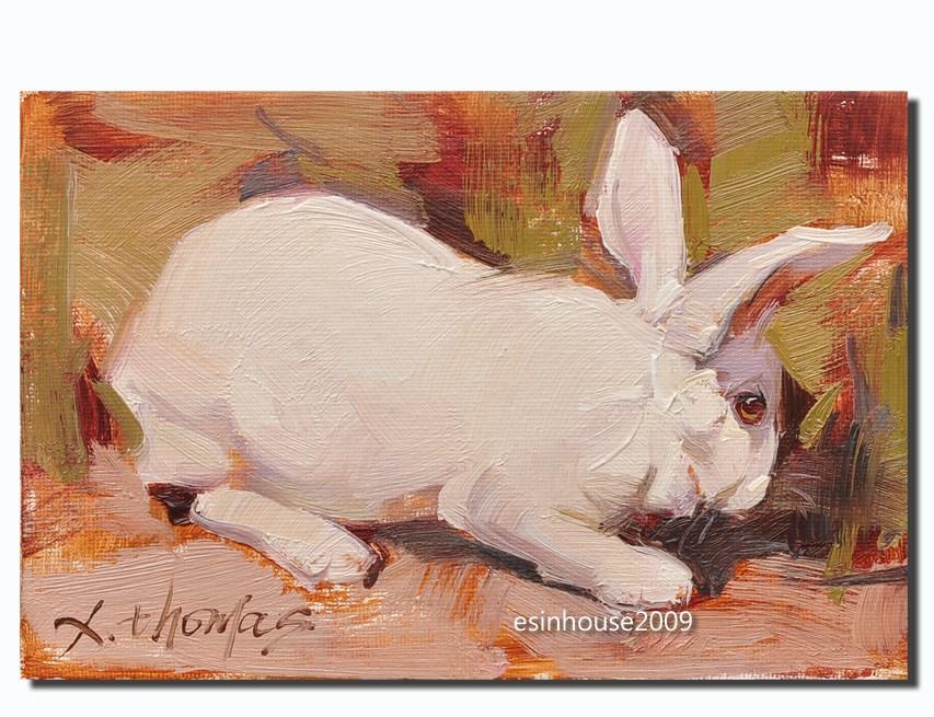 """White Rabbit"" original fine art by Thomas Xie"