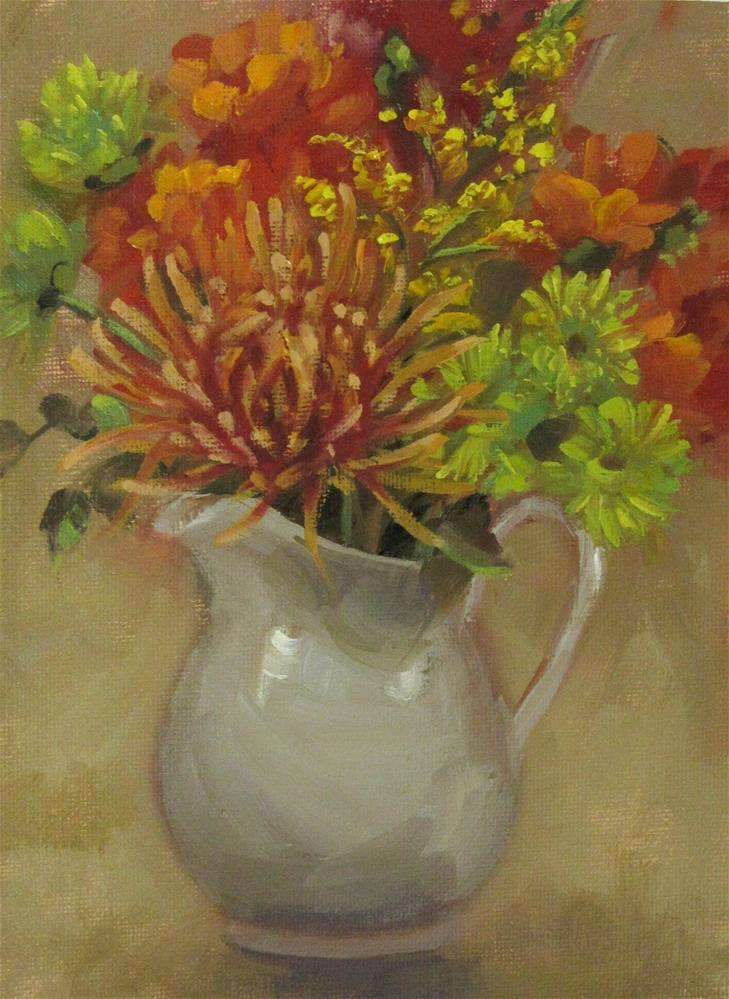 """Autumn Floral"" original fine art by Maresa Lilley"