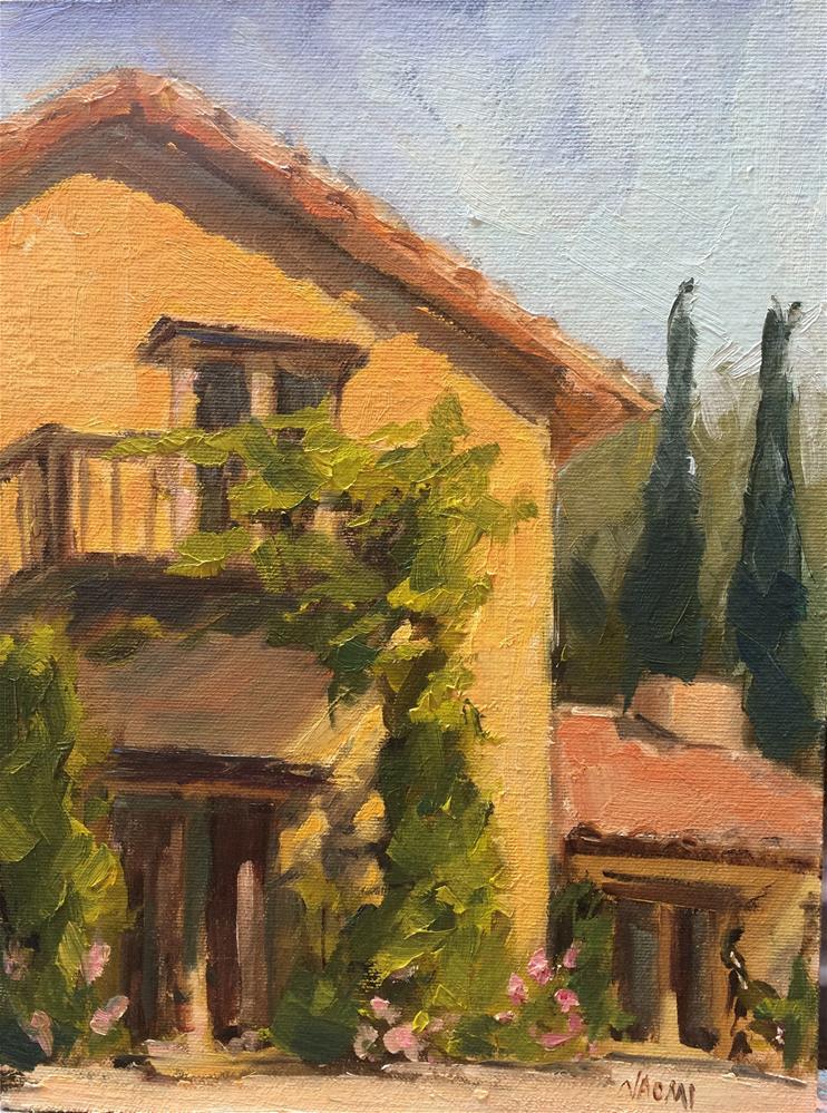 """Italian House"" original fine art by Naomi Bautista"