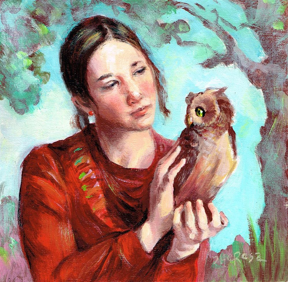 """Owl Be Your Friend II"" original fine art by Theresa Taylor Bayer"