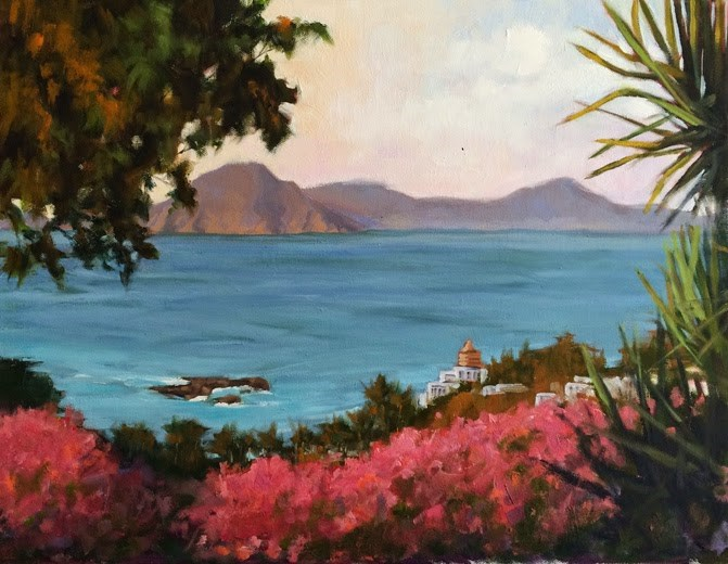 """View from Manzanillo"" original fine art by Deborah Newman"