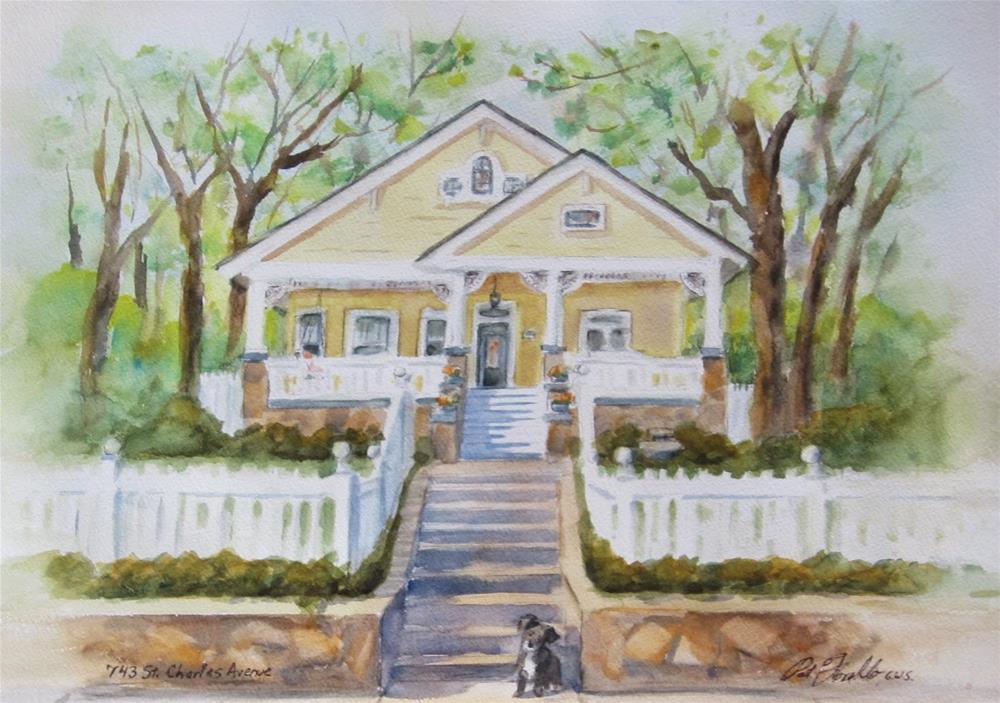 """Home Sweet Home"" original fine art by Pat Fiorello"