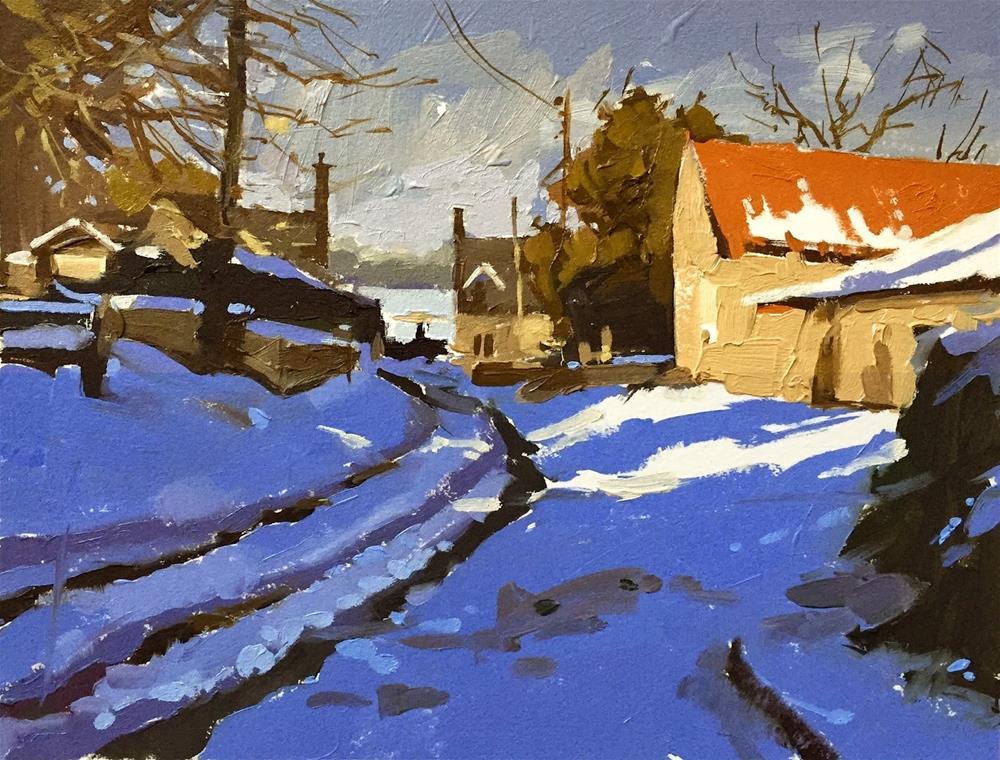 """A lane in Londonthorpe"" original fine art by Haidee-Jo Summers ROI"
