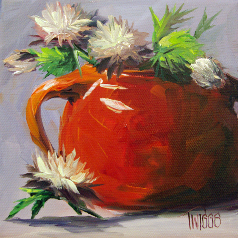 """""""Thistles 5 Gone to seed"""" original fine art by Lori Twiggs"""