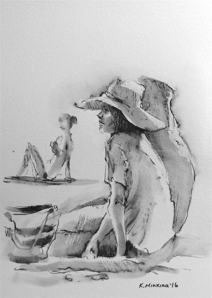 """hanasketching#18"" original fine art by Katya Minkina"