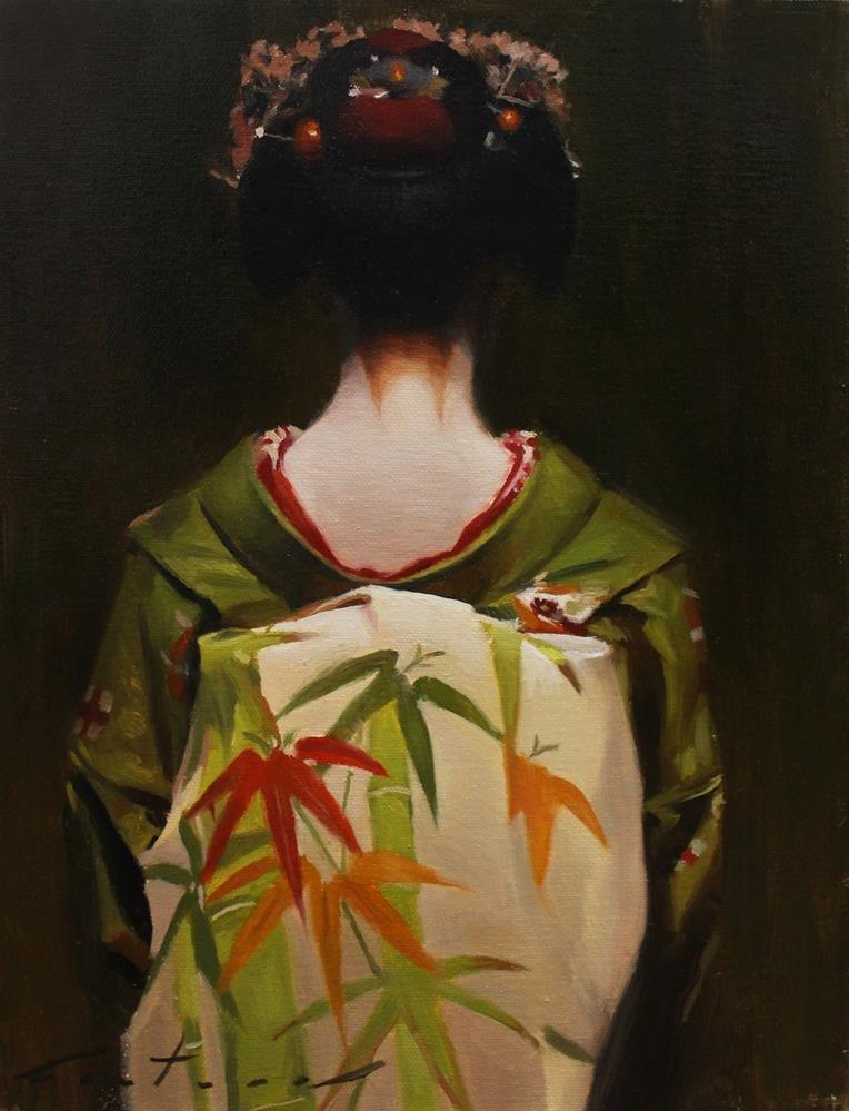 """The Scarlet Fringe (Haru)"" original fine art by Phil Couture"