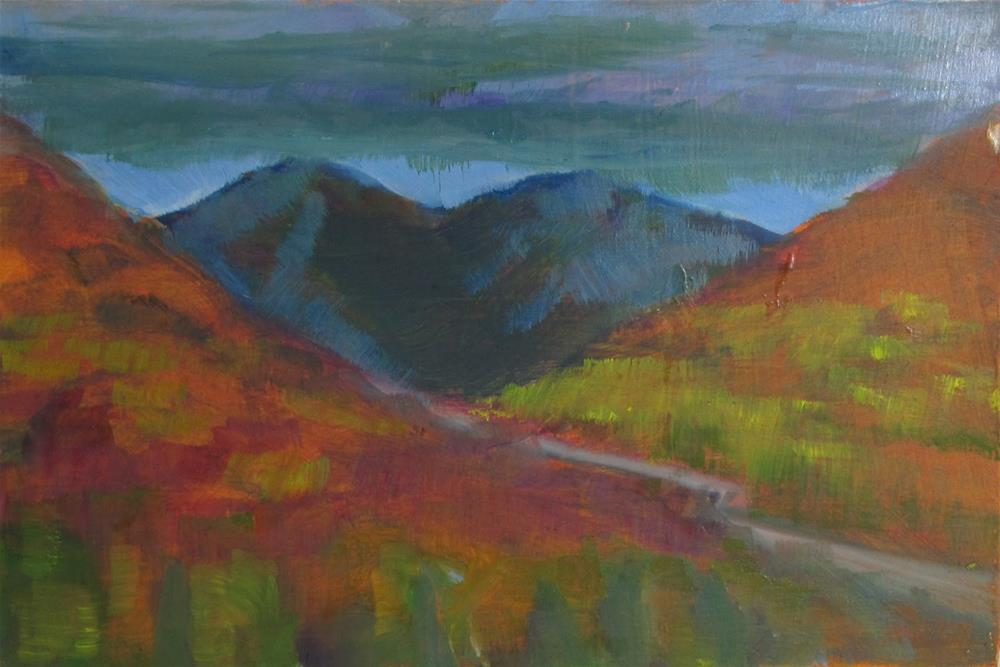 """""""Remembered Landscape #4 Going Over the Pass"""" original fine art by Christine Holzschuh"""