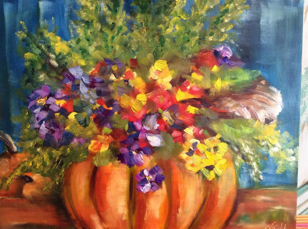 """Happy Fall Y'all"" original fine art by Molly Rohrscheib Hathaway"