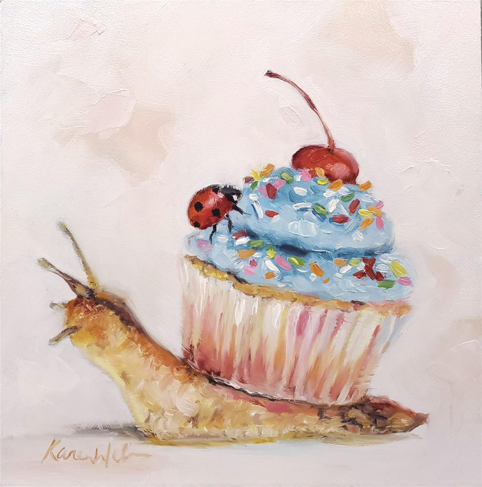 """""""Shell of a Cake"""" original fine art by Karen Weber"""
