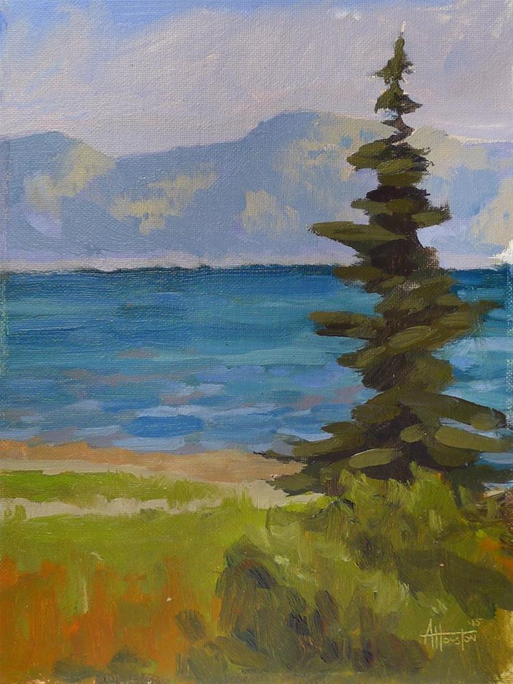 """Tahoe City Shore"" original fine art by Adam Houston"