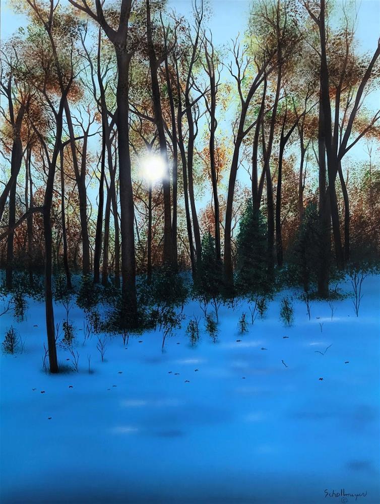 """Sunset View from Owl Creek"" original fine art by Fred Schollmeyer"