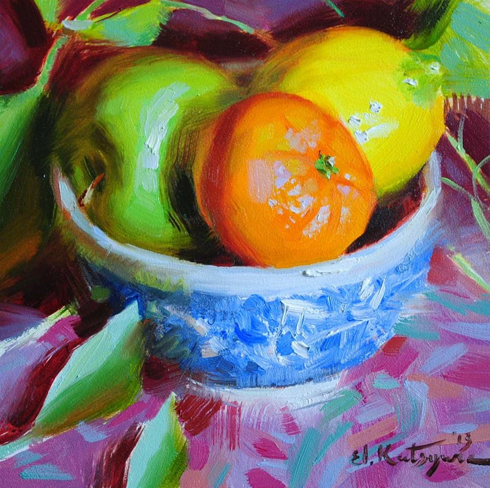"""Summer Fruit"" original fine art by Elena Katsyura"