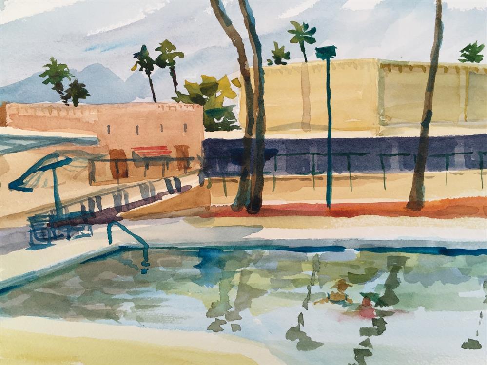 """Mountainview Rec Center, Sun City, AZ"" original fine art by Jean Krueger"