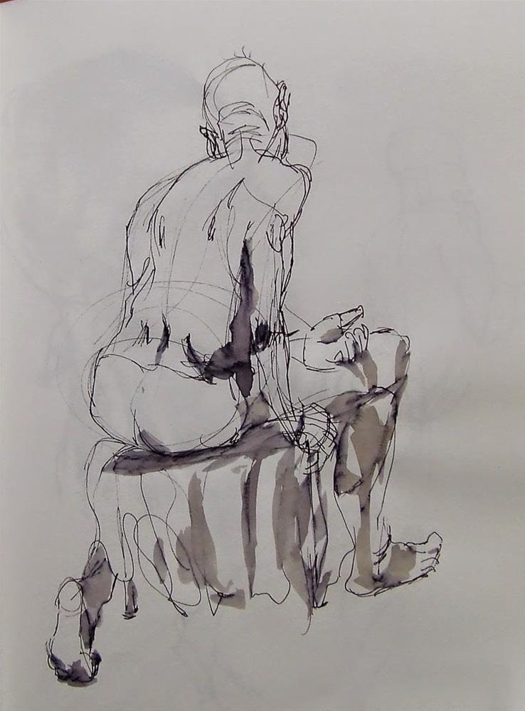 """""""ink&brush"""" original fine art by Mitsuru Cope"""
